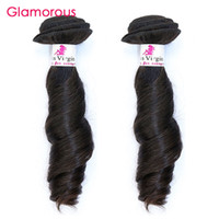 """Wholesale Brazilian Natural Wave 2pcs - Glamorous Wholesale Hair Bundles 2Pcs Brazilian Malaysian Indian Peruvian Human Hair Funmi Wave Remy Hair Weft Extensions 12""""-34"""" available"""