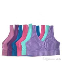 Wholesale Wholesale Sexy Stockings - In stock High Quality 9 Colors Seamless Bra Push Up Sport Yoga Bra Fashion Sexy Microfiber Pullover Bra Body Shape Best quality 5000pcs