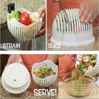 Wholesale Plastic Accessories For Kitchen - Cooking Cutters 60 Second Salad Maker Bowl Fruit Vegetable Salad Cutter Bowl Quick Washer Chopper Tools for Kitchen Accessories