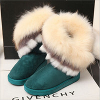 Wholesale fur mice - 171009001 2017 winter new personality women Fashion Ankle boots mouse Cotton-padded shoes Thickened Bow-tie Snow Boots 4 colors