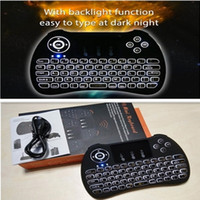 Wholesale H9 Fly Air Mouse Mini Wireless Keyboard GHz Touchpad Kyeboard with backlight Remote Control For T95 TV Box M8S MXQ Pro X96