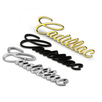 Wholesale auto cadillac - Car Styling Tail Emblem Badge Auto Exterior 3D Decor Sticker for Cadillac Emblem Bladge