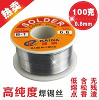 Wholesale Cored Solder - CF-10 B-1 KAINA 0.8mm Tin Lead Solder Wire Melt Rosin Core Soldering Wire Wires Solders 100g