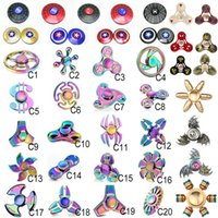 Wholesale Rainbow Flashing - EDC Fidget Spinner rainbow toy Captain America Hand tri spinner Dragon EDC beer bottle Toy For Decompression Anxiety Toys dhl ZH