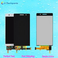 Wholesale Original Huawei Ascend P6 - For Huawei Ascend P6 LCD Display and Touch Screen Digitizer Assembly Replacement Panels with LOGO,Original New