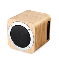 Wholesale Wooden Pc Speakers - Wooden Wireless Speaker Bluetooth 4.0 with FM Radio 1800mAh Battery,AUX,Multi-function Fashionable Design for Phone PC