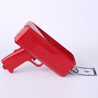 Wholesale plastic cannons - 2017 Christmas Gift Toys Brand New Cash Cannon Money Gun Fashion Toy Make Money Rain Red Gun For Fun