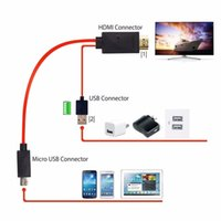 Wholesale Hdtv Adapter Galaxy Tab - 11 Pin MHL Micro USB to HDMI 1080P HDTV Cable Adapter for Samsung Galaxy S5 S4 S3 Note3 Note2 Galaxy Tab 3 8.0, Tab 3 10.1