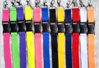 Wholesale Cy Pinks - SF_EXPRESS SEND wholesale pink color Neck Strap Lanyard key phone work ID card lanyaed IN STOCK cy
