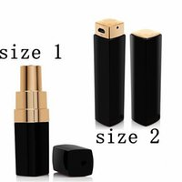 Wholesale Lipstick External Portable Battery Charger - New Fashion woman Luxury cc makeup Lipstick Power Bank 3000mAh High Quality External Powerbank portable battery charger