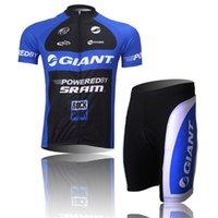 Wholesale Giant Pro Short Sleeve Jersey - 2017 Hot cycling jersey pro team Men's GIANT summer Short sleeve shorts sets +Bib Shorts Maillot Ciclismo