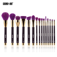 Wholesale maange brush set for sale - Group buy Maange Makeup Brushes Set Foundation Powder Eyeshadow Eyeliner Lip Contour Concealer Smudge Brush Kit Purple High Quality