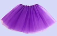 hilo tutu al por mayor-2015 niña 14 color caramelo falda de ballet para niños 3 capas vestido de fiesta Faldas de pastel tutú pettiskirt Lentejuelas de hilo neto bailando faldas de tutú 300PCS