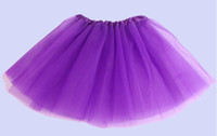 Wholesale Netting Skirts - 2015 girl 14 candy color kids ballet skirt 3 layers ball gown Cake skirts tutu pettiskirt Net yarn sequins dancing tutu skirts 300PCS