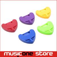 Wholesale Triangle Guitar Pick Holder - 6Pcs Multi Color Plastic Guitar Plectrum Big Triangle guitar Pick Holder,guitar pick case MU1327