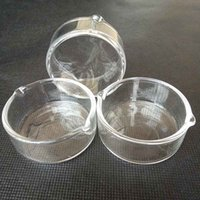 Wholesale Glass Ashtray Wholesale - High Quality 5cm Diameter Glass Ashtray Ash Catcher bowl Dish rod bong Container smoking accessory OIL RIG DISH DABBER bowls pipes