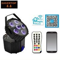 dmx sesi toptan satış-Tiptop tp-g3036-6in1 disko değiştirilebilir akülü dj ışık 6x18 w dmx kontrol dmx kablosuz kontrol ses müzik led ekran