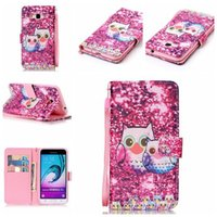 Wholesale Mobile Phone Cover Flower Galaxy - Flower Wind Chimes Ghost Head Painting Mobile Phone Cover Wallet Flip Leather Case For Samsung Galaxy J3 J310