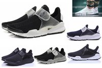 Wholesale Discount Socks Free Shipping - Free Shipping 2016 Fragment X Socks Dart Air Presto Fur leather winter running shoes for men&women discount athletic trainers shoes