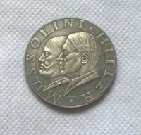 Wholesale Silver World War II Italy And The German Ruler Collectible Souvenir Coins COPY