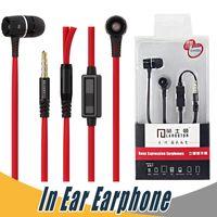 Wholesale Noodle Earphones - Langsdom Earphone Eh350 3.5mm Noodles Wired Earphone HiFi In-Ear Earbuds with Mic Universal Earphone For iPhone Samsung Smartphone