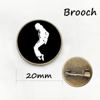 Wholesale Michael Jackson Accessories - Rock band pop star Michael Jackson brooches dress Accessory MJ dancing pins fashion boys men' s jewelry free shipping