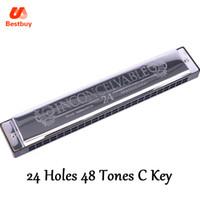 Wholesale Harmonica C 24 Holes - Swan SW24-4 Tremolo Harmonica 24 Holes 48 Tones C Key with Black Box