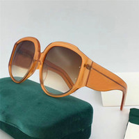 Wholesale Frames Decorative - New fashion designer sunglasses oversized imported plate frame popular simple style top quality light-colored decorative eyewear 0151