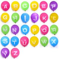 Wholesale Latex Balloons Letters - Inflatable Alphabet 12 Inch Letter Latex Balloons A-Z Multicolor Number Balloon 0-9 Party Decor Free shipping