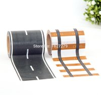 Wholesale Traffic Toys - Wholesale- 2016 New 1pcs 60mm*10M Railway Road Washi Tape ,wide creative traffic road Adhesive Masking Tape, scotch road for kids toy car