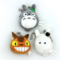Wholesale bus bags - My Neighbor TOTORO   Totoro Bus Plush Coin Bag Stuffed Animals Doll Toy For Child Gifts (Size: 8X7CM   12pcs Lot )