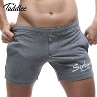 Wholesale Trunks Men Wear - Wholesale-Seobean Brand Men Shorts Cotton Fitness Workout Boxer Trunks Mens Casual Gasp Boxers Active Shorts Bottoms Short Gay Wear New
