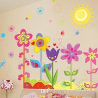murais de filmes venda por atacado-Adesivos de parede PVC Paisagem Paisagem Papel De Parede Mural Art Film Pastoral Estilo Vinyl Decal Kids Room Home Decor 2 5dz J R