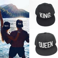 Wholesale Sport Queens - KING QUEEN Embroidery Snapback Hat Acrylic Men Women Couple Baseball Cap Gifts Fashion Hip hop Sport Caps