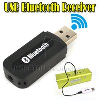 Wholesale bluetooth receiver laptop - USB Bluetooth Music Audio Receiver Adapter 3.5mm Stereo Audio to Speaker Sound Box for PC Laptop LG Samsung S3 S4 S5