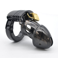 Wholesale Chastity Cuffs - BLACK MALE POLYCARBONATE CHASTITY DEVICE CUFF RING BLACK JACK MARK A137-2