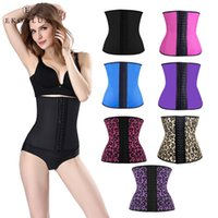 Wholesale Wholesale Latex Shapers - Wholesale- EKO&LUX Latex Waist Trainer Corsets Hot Shapers Tummy Control Belts Latex Waist Cincher Women Girdles Fajas Workout Body Shaper