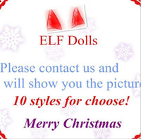 Wholesale Red Dolls - DHLPlush ELF Dolls Red Girl & Boy Figure Christmas elves Soft Book of Christmas Novelty Toys Xmas Gift For Kids Holiday Gift