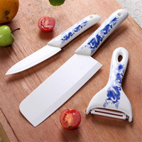 Wholesale Pcs Cutlery Set - 3 Pcs Sets Cutlery ECO Friendly Ceramic Knife Kitchen Knives High quality Kitchen tools Dining Fruit Knife free shipping