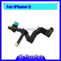 Wholesale Mobile Phone Replacement Parts - Front Camera with sensor Flex Cable for iPhone 5 5G Replacement parts Mobile phone flex cable Ribbon free shipping