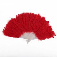 Wholesale Costume Feather Fans - New Arrival Elegant Performances Craft Feather Hand Fan Festival Carnival Dress Accessories Fashion Fans Stage Costume Prop Supplies