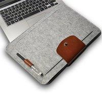 "Wholesale Smart Cover Notebook - 2016 New Felt Laptop Sleeve Bag Notebook Case Computer Smart Cover Handbag For 11"" 13"" 15"" Macbook Air Pro Retina Ipad"