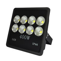 Wholesale Led Watts Super - 400 watt Super Bright Outdoor High Power LED Flood Light with Fixture Daylight White IP66 Waterproof 35000lum 85V-265V AC