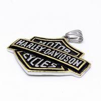 ожерелье готическое оптовых-Европейский и американский ретро войны тег титана Harley кулон ожерелье панк готический модные аксессуары и личность