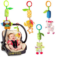 Wholesale Wholesale Child Cot - Wholesale- New Hanging Spiral Activity Stroller Pushchair Car Seat Cot Baby play Travel Toys Baby Rattles Toy For Children