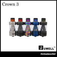 Wholesale Wholesale Metal Crowns - Authentic Uwell Crown 3 Tank with 5.0ml e-Juice Capacity with Top Filling Large Clouds Crown III 100% Original