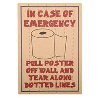Wholesale Vintage Bathroom Poster - 1 PCS Retro Style Toilet Decorative Bar Funny Poster Toilet Decorative Painting Vintage Wall Sticker