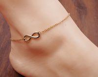Wholesale ankle bracelet silver bell resale online - 2017 Hotsale Ankle Bells Summer beach Style Chain Foot Double Zipper Anklet Women Silver Bracelet On A Leg Diamond Jewelry never outdate