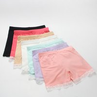 Wholesale Lace Tights For Girls - Summer fashion girls cotton short leggings lace short leggings for girls lace safety pants shorts baby girl short tights