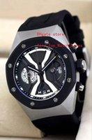 Wholesale Black Titanium Watch - factory new masterpiece high quality mans watches chronograph Swiss quartz movement Dynamic display design titanium 44 mm watchcase
